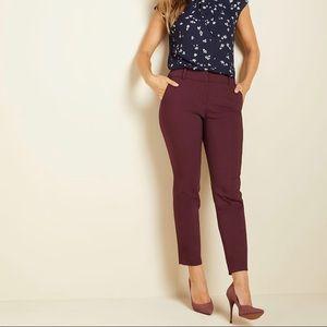 Modern Chic Ankle Slim Pant in 'Winetasting'